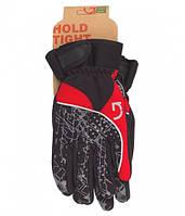 Перчатки Green Cycle NC-2409-2014 Winter с закрытыми пальцами L черный-серый-красный