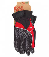 Перчатки Green Cycle NC-2409-2014 Winter с закрытыми пальцами M черный-серый-красный