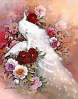 """Набор алмазной вышивки (мозаики) """"Белые павлины"""". Художник Jessie Arms Botke"""