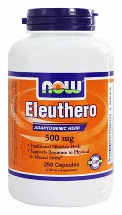 Корінь елеутерококу, Now Foods, Eleuthero, 500 mg, 250 Caps