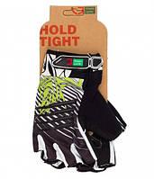 Перчатки Green Cycle NC-2303-2014 MTB Gel без пальцев XL черно-бело-зеленые