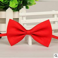 Галстук-бабочка детская, полиэстровая №2 (красная)