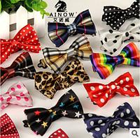 Бабочки шелковые, цветные для юных модников и модниц