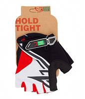 Перчатки Green Cycle NC-2318-2014 Road без пальцев M бело-красные