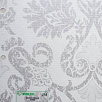 Рулонные шторы Одесса Ткань Дамаск Белый