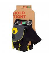 Перчатки Green Cycle NC-2503-2015 MTB Gel без пальцев M черно-желтые