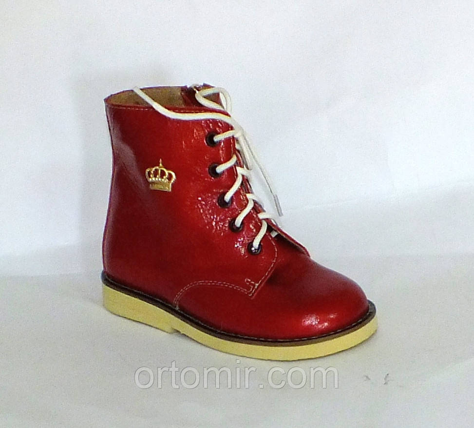 Ортопедические ботинки  со шнурком ортопед