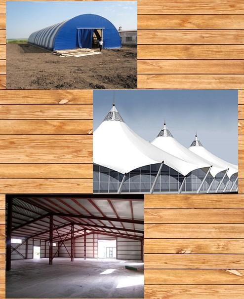 Швидкомонтовані будівлі (ШМБ), мембранні, вантові конструкції.