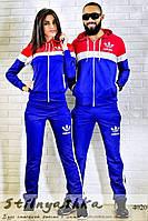 Спортивный костюм мужской и женский Adidas индиго лампас