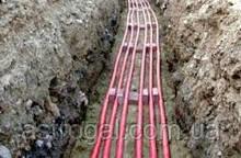 Прокладка силового кабеля, кабельных линий в земле (траншее)