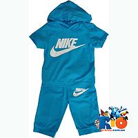 Детский костюм трикотажный с шортиками для мальчика (рост 92-110 см)