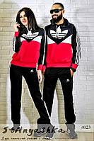 Спортивный костюм мужской и женский Adidas черный лопух, фото 1
