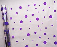 Плівка прозора Фіолетові кола 60 см 400 гр
