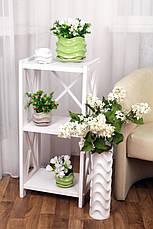 Фоилетовый цветочный керамический горшок, фото 3
