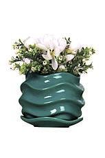 Фоилетовый цветочный керамический горшок, фото 2