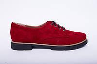 Туфли из натуральной красной замши №303-3, фото 1