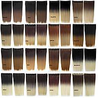 Накладные термо волосы для наращивания на заколках, затылочная прядь омбре