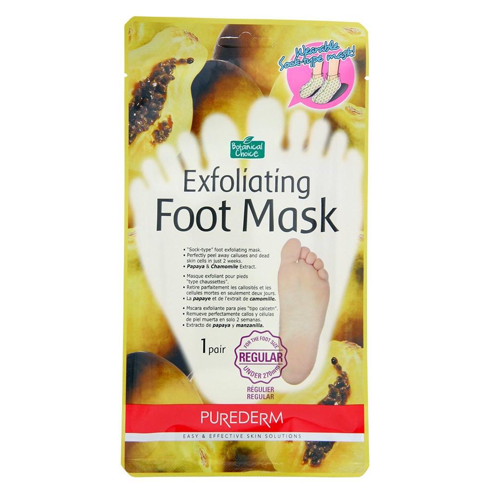 Носочки-пилинг для ног Purederm foot exfoliator с экстрактом папайи