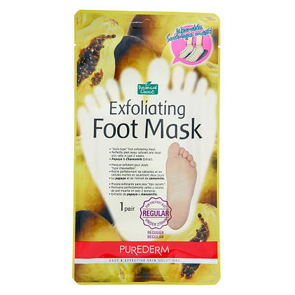 Носочки-пилинг для ног Purederm foot exfoliator с экстрактом папайи, фото 2