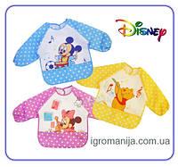 Disney Слюнявчик с рукавами!нагрудник, для самостоятельного кормления или детского творчества