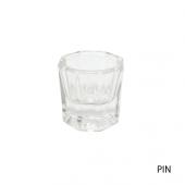 Стеклянная пиалка для смешивания краски(брови,ресницы)(хим.пилинги)