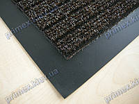Коврик грязезащитный Широкий рубчик, 100х120см., коричневый темный