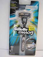 Станок для бритья мужской Gillette Mach 3 + 1 картридж. Жиллетт Мак 3 (Новый дизайн), фото 1