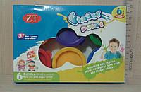 Пальчиковые Краски 6 цветов 180мл. ZT