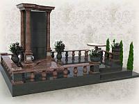 3d модель мемориального комплекса с колоннами № 410