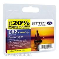 Картридж струйный JetTec для Epson Stylus Photo R270/T50/TX650 аналог C13T08244A10/C13T11244A10 Yellow (110E00