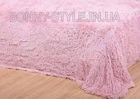 Покрывало травка 220*240 плед (искусственный мех) розовый