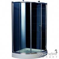 Душевые кабины, двери и шторки для ванн Appollo Душевая кабинка с поддоном Appollo TS-0515 III L профиль хром, стекло серое