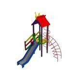 """Детский комплекс """"Петушок"""", высота горки 1,2 м."""