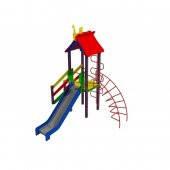 """Детский комплекс """"Петушок"""", высота горки 1,2 м., фото 2"""
