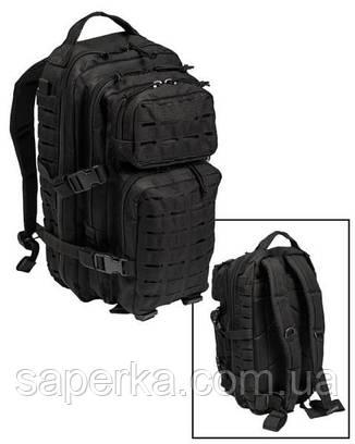 Военный тактический рюкзак Laser Cut, черный 36 литров , фото 2