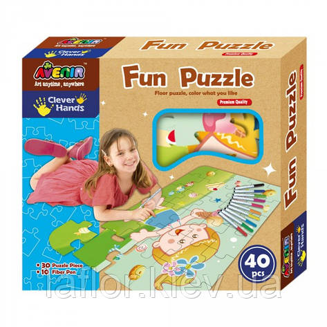 Веселые пазлы ТМ Bino Avenir Clever Hands Fun Puzzle, фото 2