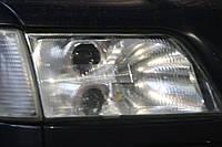 """Audi 100 (C4 С5) - замена моно линз на би-ксеноновые Infolight Ultimate G5 2,5"""" H1 в фарах, фото 1"""