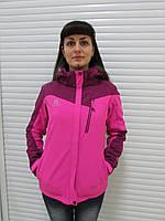 Женская демисезонная куртка Azimut (8173-13) бордовая с коралловым код 739А
