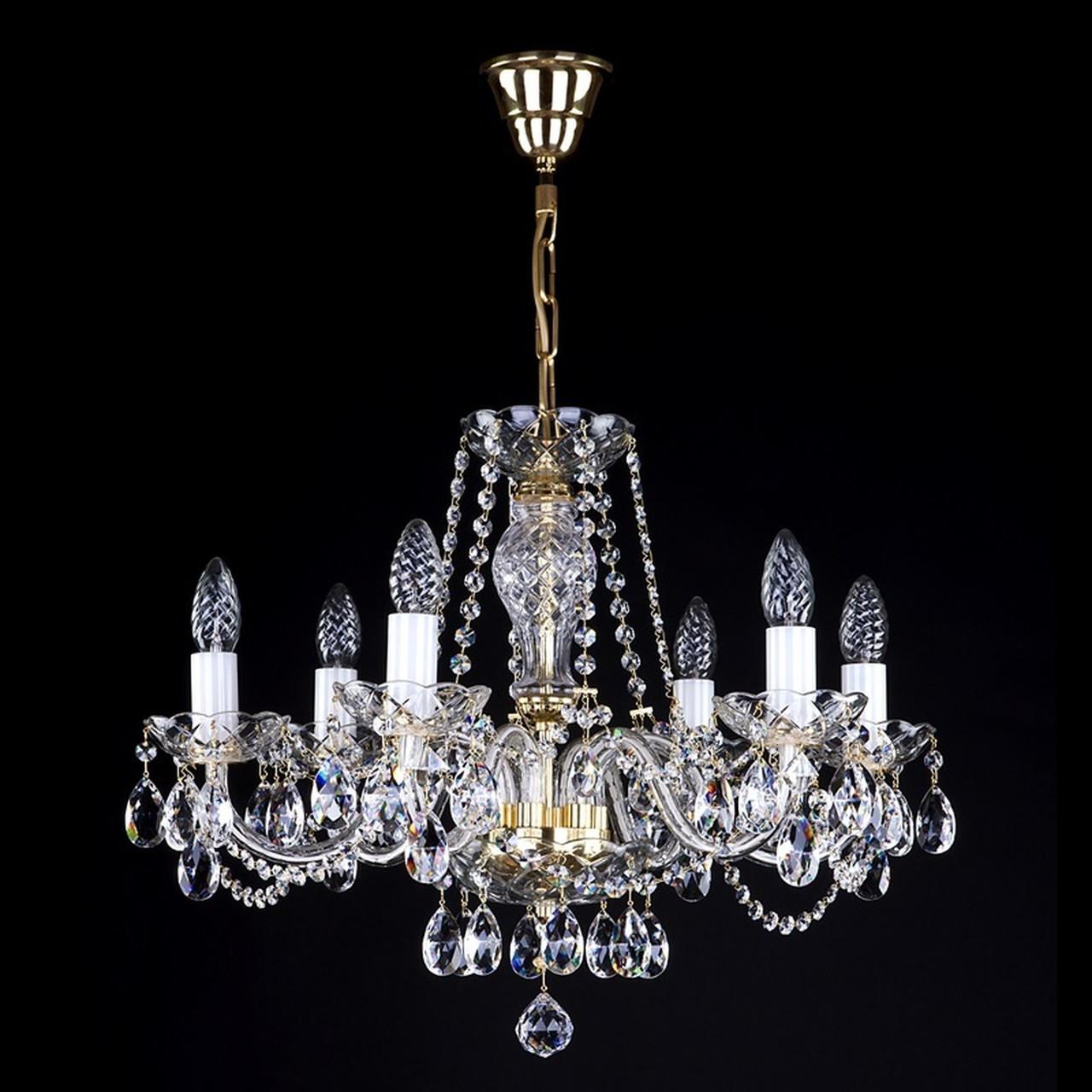 Хрустальная люстра для спальни, зала на 6 лампочек А 0003-06-20