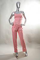 """Комплект женский со штанами (""""тройка"""") XL, персиковый"""