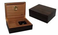 Хьюмидор JEMAR 7033981 для 70 сигар, черный, 28х22х10 см
