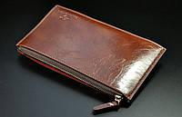 Удобный кошелек унисекс  из натуральной кожи