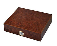Хьюмидор 92017 (82017) для 12 сигар, светло-коричневый, 22х26х6,5см