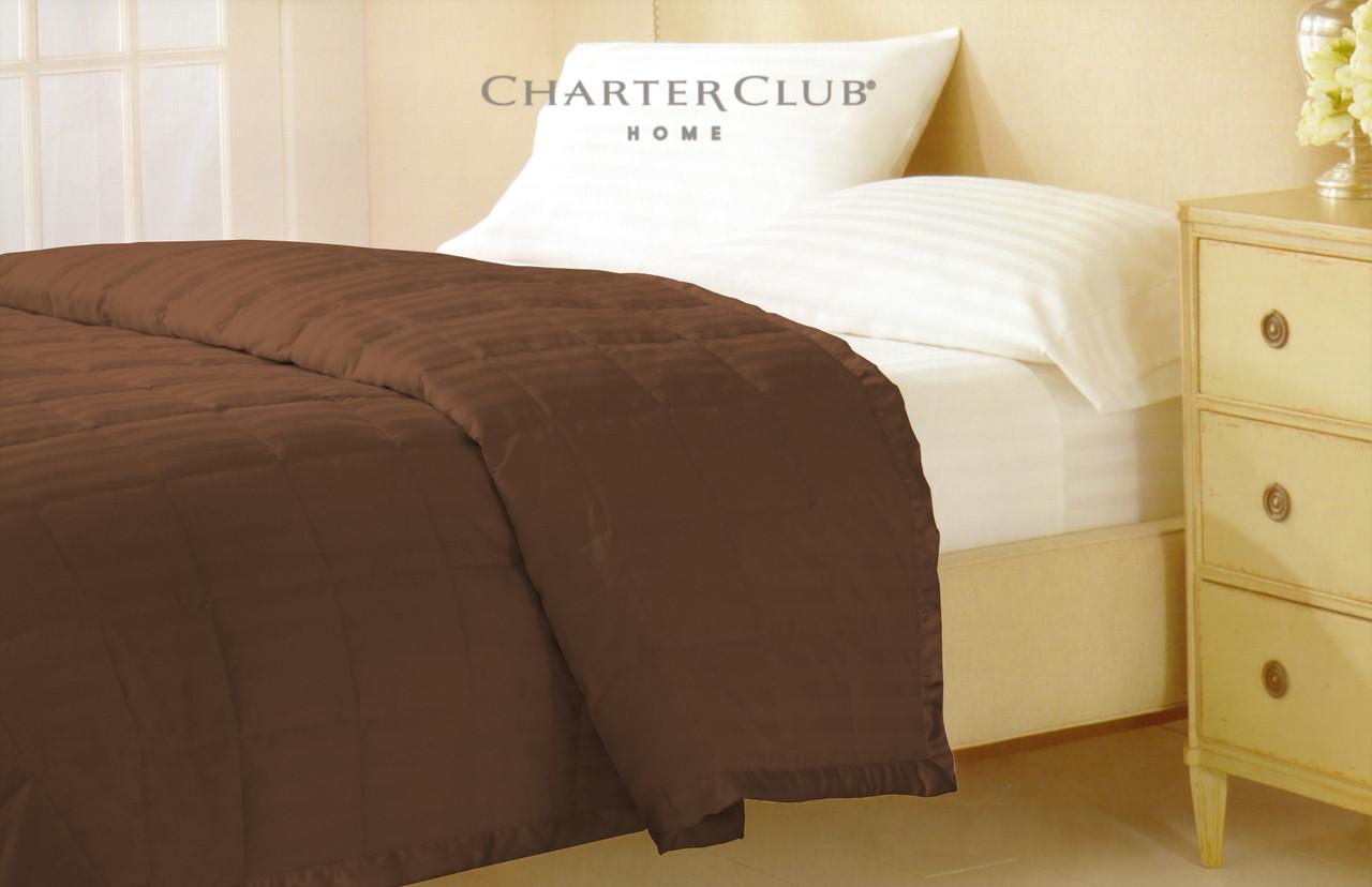 Одеяло-покрывало Charter Club кофейное 229х234см