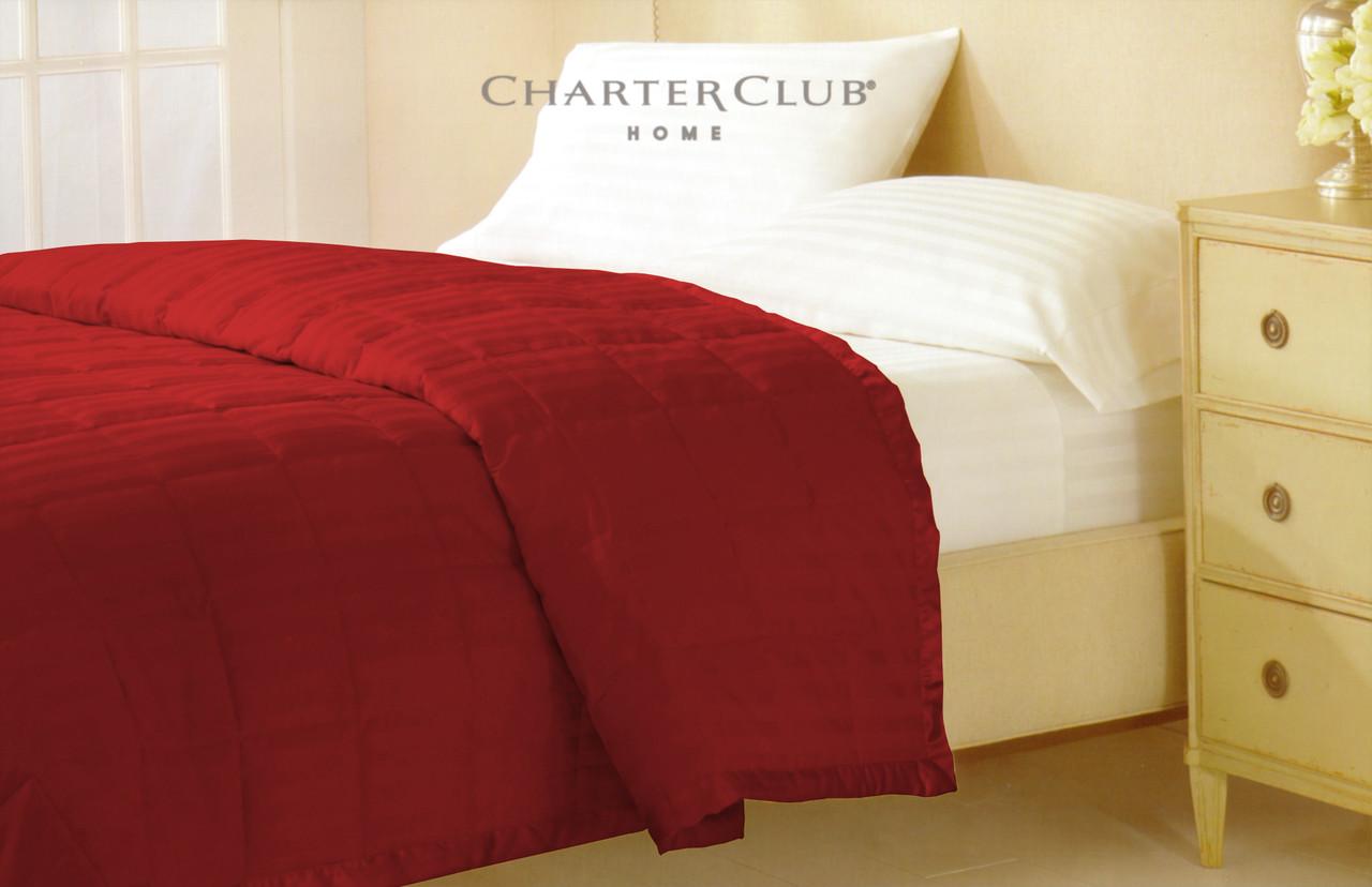 Одеяло-покрывало 229х234 красное Charter Club