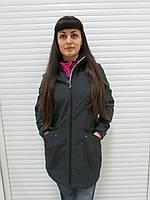 Женский демисезонный плащ Azimut (938-13) черно-коричневый код 750А