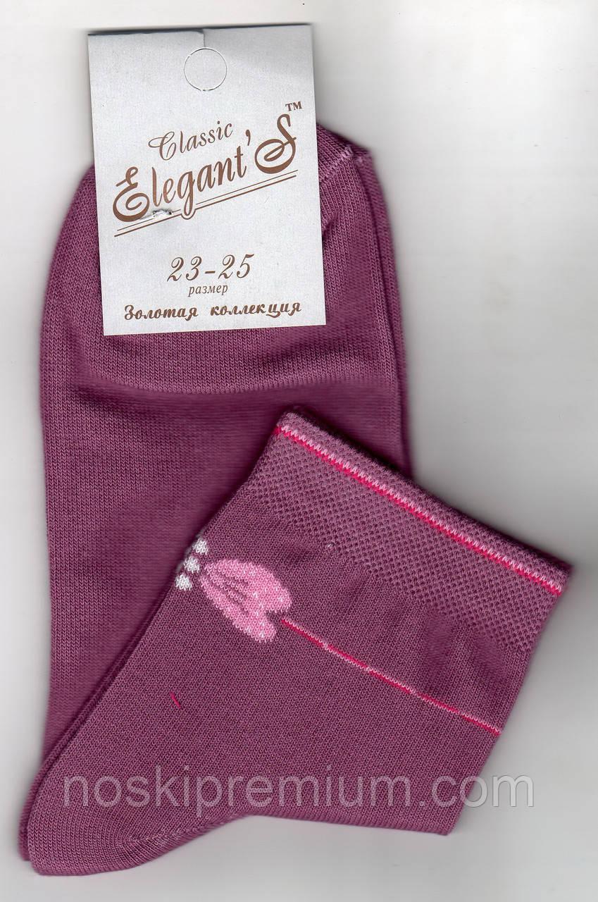 Носки женские демисезонные х/б Элегант, 23-25 размер, 01542