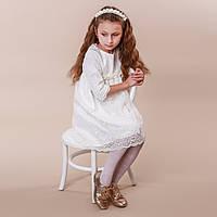 Детское платье Иза  Изольда от Miminobaby шампань на 5 лет
