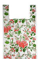 Пакеты полиэтиленовые майка,,Цветочная гармония,, 30-50 см /уп-100шт