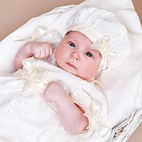 Детский берет Иза Изольда от Miminobaby  36-40см шампань